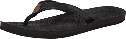 Reef Women's Zen Love Sandals, Black/Black, 7