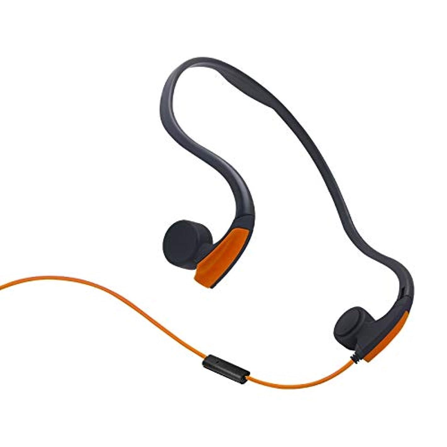 ブーム前投薬呼び出すYIYHG では、インナーイヤー型ヘッドフォン有線ヘッドフォン背面には、ワイヤ制御骨伝導アウトドアスポーツヘッドフォンをぶら下げ (色 : オレンジ)
