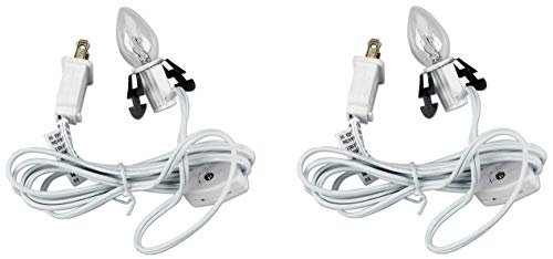 Set of 2 Darice 6402 Accessory Cord with 1 Lights, 6-Feet, White