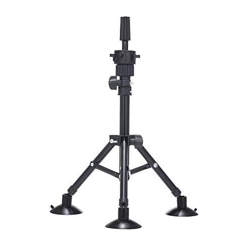 Trépied pour Perruque avec Ventouses, Anself Support Tête à Coiffer pour Têtes d'exercice Porte-coiffure Réglable Coiffeur Formation (14.96 inch-24.6 inch)