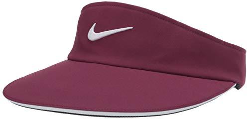 Nike Damen Aerobill Statement Visier, Damen, Mütze, Women's Nike Aerobill Statement Visor, Bösewicht Rot/Weiß, Einheitsgröße