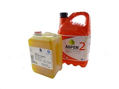 Aspen 5L 2-Takt Alkylatbenzin mit 3L Bio Kettenöl
