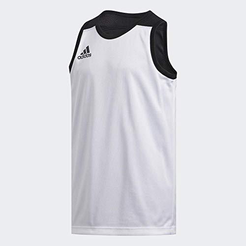 adidas 3g Spee Rev Jrs Camiseta Reversible sin Mangas, Unisex niños, Negro (Black/White), 1314Y