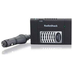 RadioShack 175-Watt DC to AC Slim Power Inverter - Built-in USB Port - Includes Airplane adapter - Ideal for camcorders, video game consoles, laptops, netbooks, battery charges, small tvs, dvd players