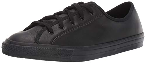 Converse Chucks 564986C Schwarz Chuck Taylor All Star Dainty GS Basic Leather Black Mono, Groesse:39 EU