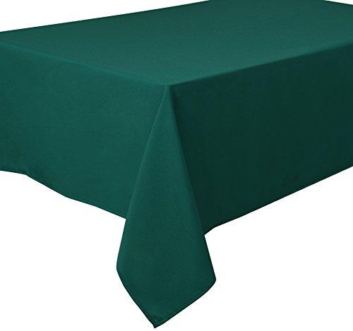 Home Direct Nappe Polyester Facile d'entretien Rectangulaire 140 x 180 cm Uni Bleu Vert