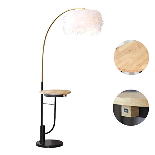 TATANE LED-vloerlampen voor woonkamers met draadloos opladen Und USB, moderne staande paallicht, voor slaapkamers en kantoren, LED veren verticale lampen