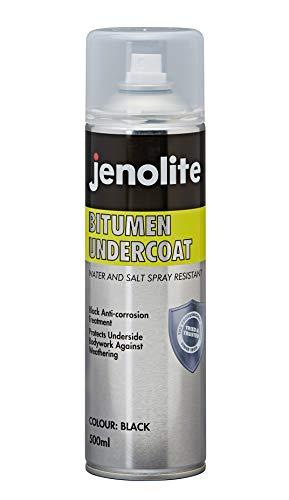 JENOLITE Guaina Bituminosa a Spray - Vernice Spray anticorrosione per sottoscocca Auto, sigillante per grondaie, sigillante per Tetto - Nero - 500ml