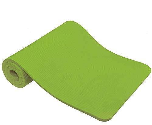 TechFit Fitness Yoga Tappetino, 10mm Extra Spessore, 180 x 60 cm, Ideale per Palestra, Esercizi del Pavimento, Campeggio, Stretching, ABS, Pilates (Verde)