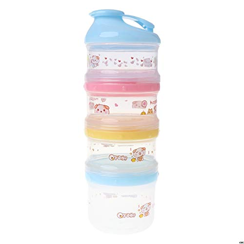 Check Out This ZXY Baby Milk Powder 4-Layer Cosmetic Box, Portable Food Storage Cartoon Cosmetic Box...