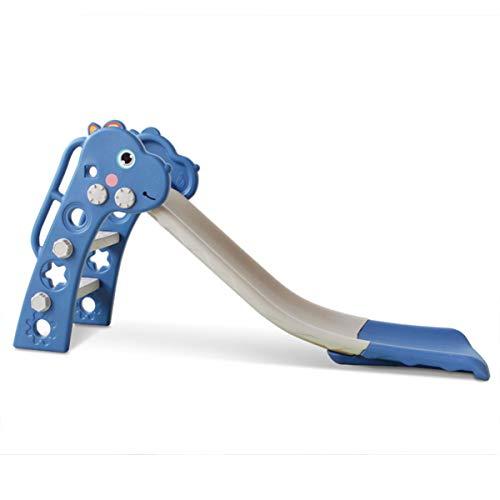 OMGPFR Tobogán Independiente de Interior para niños, Tobogán Interior extralargo Fácil Montaje Estable Duradero Seguro para niños Juguetes de jardín Regalo de los niños Azul Dinosaurio,Azul