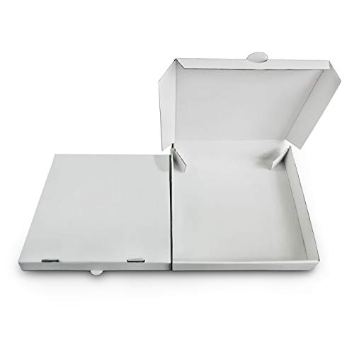 14' Premium White Corrugated Pizza Boxes Take Out Containers (10 Pack) (14' Length x 14' Width x 1.8' Depth)