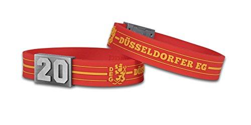 BRAYCE® DEG Armband mit Deiner Trikot Nummer 00-99 I Eishockey pur mit dem Düsseldorfer EG Trikot am Handgelenk personalisierbar & handgemacht