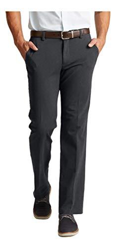 Dockers Men's Classic Fit Workday Khaki Smart 360 Flex Pants, Noir Heather, 34W x 32L