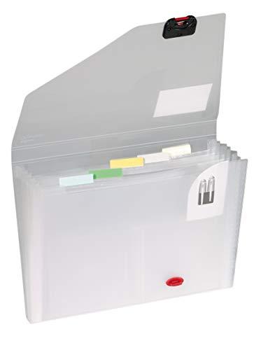 Snopake Organiser - Clasificador con 6 compartimentos, gris