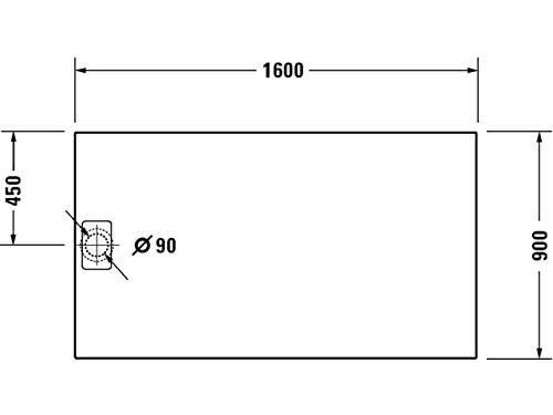 Duravit Duschwanne Stonetto 1600x900mm Rechteck, Weiß, 720218380000000