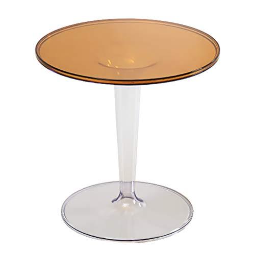ZWJLIZI Mesa de Centro, Mesa de café pequeña Minimalista nórdica, Sala de Estar Redonda de sofá acrílico, balcón Mesa de té por la Tarde (Color : D)