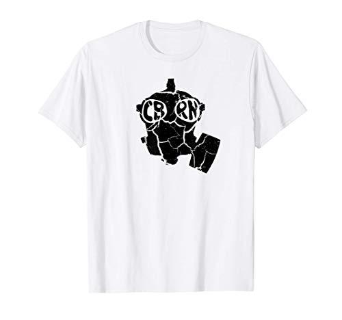 CBRN Gas Mask Army NBC MOPP Gear Military Survival Prepper T-Shirt