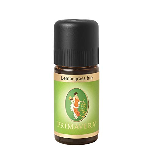 PRIMAVERA Ätherisches Öl Lemongrass bio 10 ml - Aromaöl, Duftöl, Aromatherapie - beruhigend, geistig anregend - vegan