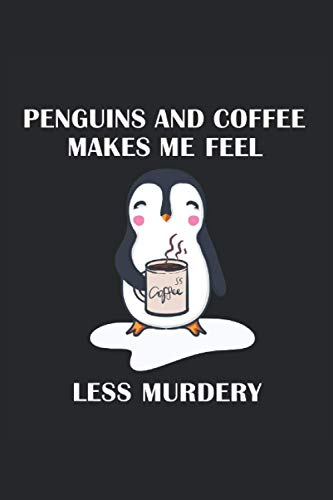 Pinguin Notizbuch: Motiv Pinguin und Kaffee