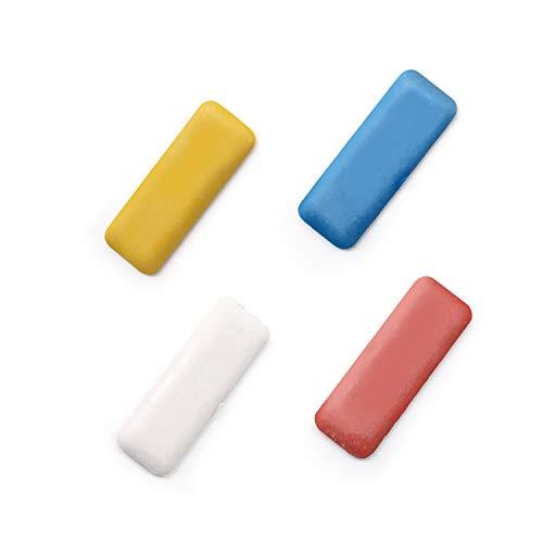 LERANXIN 4 Pièces de Craies de Tailleur, Crayons de Marquage Carrés Multicolores, Craies en Cire de Qualité Professionnelle, Adaptées au Marquage et à la Peinture de Couture