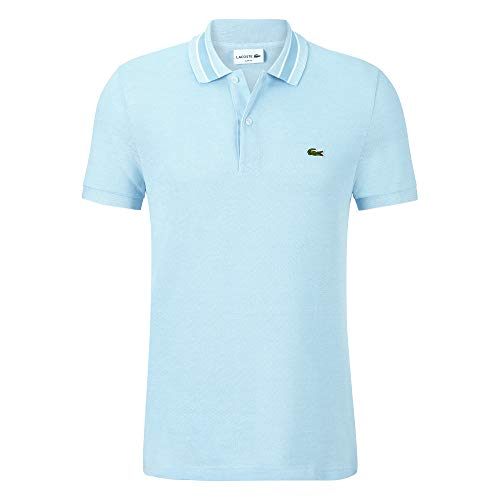 Lacoste PH4251 Herren Polo Shirt Kurzarm,Männer Polo-Hemd,2 Knopf,Slim Fit,Creek/Flour(786),Medium (4)