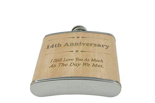 Flachmann zum 15. Hochzeitstag, Geschenk für Ihn