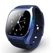 M26 Smartwatch Blau mit Touchscreen, Bluetooth, kompatibel mit Android und IOS - Schwarz