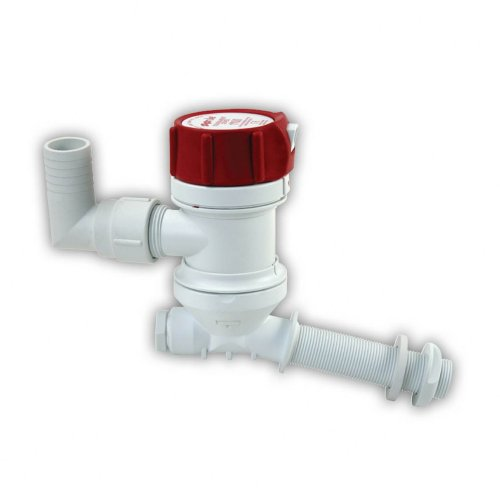 Rule Marine Tournament Livewell Pump (Angled Thru Hull Fitting, 12-Volt)