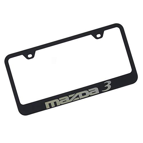 Mazda 3 Black Stainless Steel License Plate Frame by Mazda