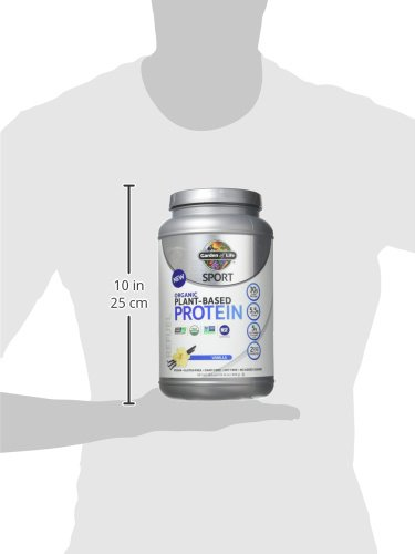 Garden of Life Sport Organic Plant Based Protein Powder Vanilla, 30g Protein Per Serving, Premium Vegan Protein Powder For Women