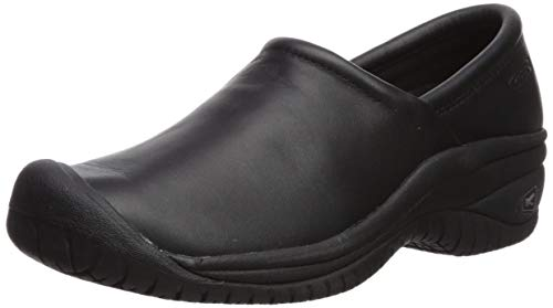 KEEN Utility Women's PTC Slip On 2 Low Food Service Shoe, Black/Black, 11 Medium US