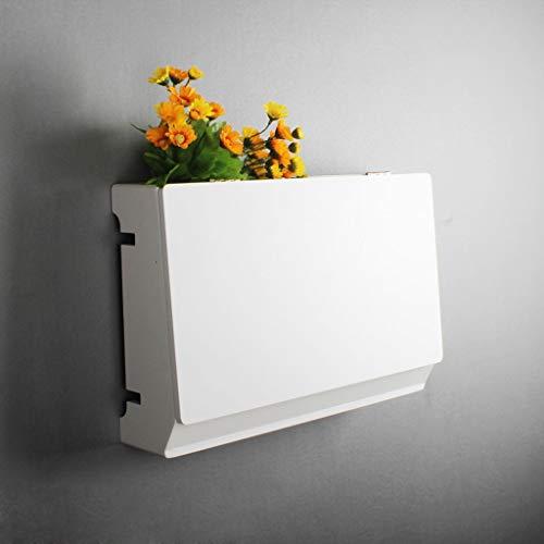 Estante Flotante Dormitorio Sala de Estar Estante de Pared Set Top Box Router Almacenamiento Estante Socket Caja de oclusión Estante de TV montado en la Pared Soporte para TV (Color : B)