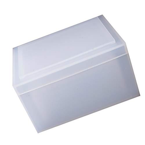 HEALLILY Tissue Box Harz Silikonform Schmuck Aufbewahrung Epoxy Serviettenhalter Form für DIY Handwerk Schmuck Geschenkbox Gießformen Home Dekoration mit Deckel