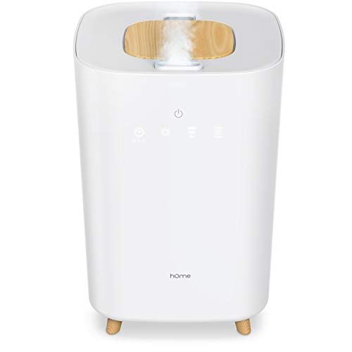 hOmeLabs Large Room Humidifier - 4L Ultrasonic Cool Mist Humidifier for Bedroom, Nursery or Office - Runs up to 40 Hours, Covers 215 Sq Ft Room with 3 Humidity Levels, Timer and Sleep Mode
