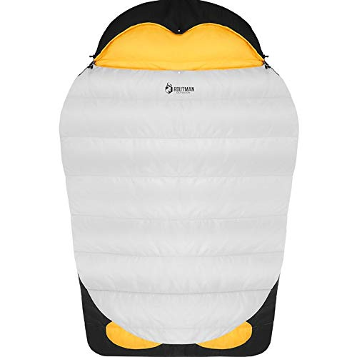 ROUTMAN 家族 寝袋 大きい 冬用 2人用 1人用 可愛い【3350g 厚】 230x150cm ワイドサイズ 分離可能 ペンギン 取り外し可能 フロアマット キルト 防水