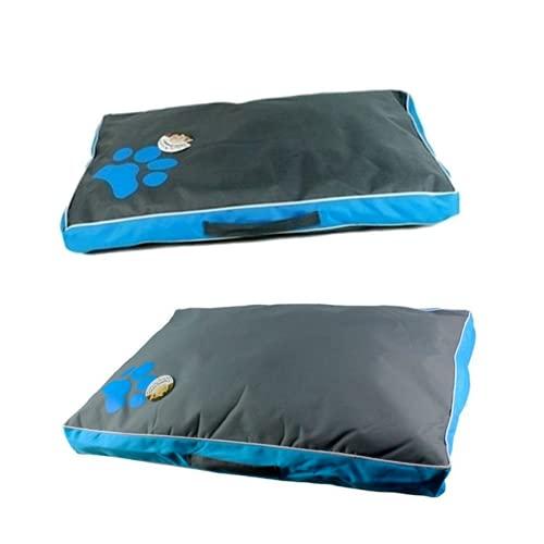 Cama de perro grande lavable para mascotas, suave y grande, cojín para perro, diseño de pata de perrera, para mascotas, sofá, cama de gato, sofá de labrador, cama para mascotas (azul, 120 x 73 x 8 cm)