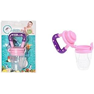 Baby Dummy Pacifier Fresh Food/Fruit Feeder Feeding Nipple Weaning Teething Nipple Teat Pacifier Teether Soother (M, Pink)