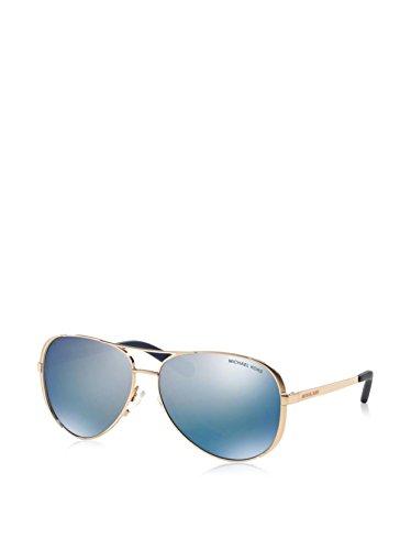 Michael Kors CHELSEA MK 5004 ROSE GOLD/BLUE PURPLE MIRROR POLARIZED 59/13/135 Dames Zonnebrillen