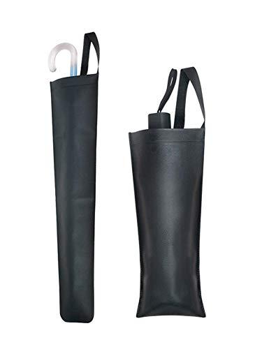 Seasaleshop Bolsa de Almacenamiento de Paraguas de Cuero Artificial para Coche, paragüero Trasero de Coche, Organizador de Asiento, Soporte de Paraguas Plegable Impermeable de Cuero Artificial