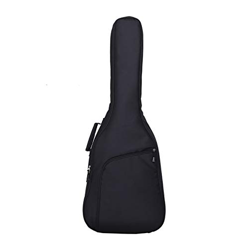 HKJZ Guitar Bag Double Shoulders Thickened Guitar Bag Padded Thick Protective Guitar Case For Acoustic Classical And Electric Guitars Backpack Padded Soft Case (Color : Black, Size : Medium)