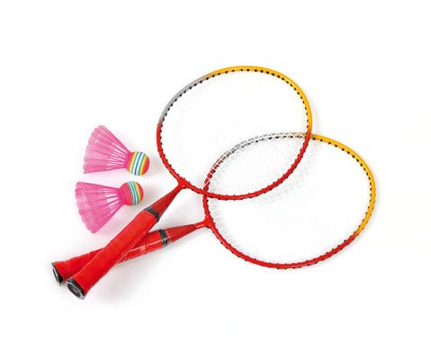 Schmetterball-Set 2 Schläger und 2 Schmetterbälle für Badminton-Sport