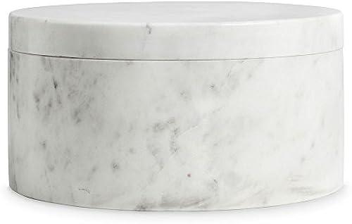 Nordstjerne - Marmor Box - Weiß- rund -  4 x H 12,5cm