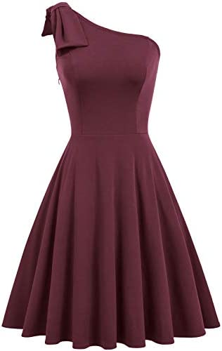 Red One Shoulder Dress for Women One Strap Womens Dress Size M Color Red product image