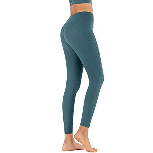 NIGHTMARE Leggings Sexis de Gimnasio para Mujer, Pantalones de Yoga de Cintura Alta, Scrunch, Control de Barriga Gruesa, Entrenamiento, Mallas Deportivas elásticas para Correr, Control de Barriga M