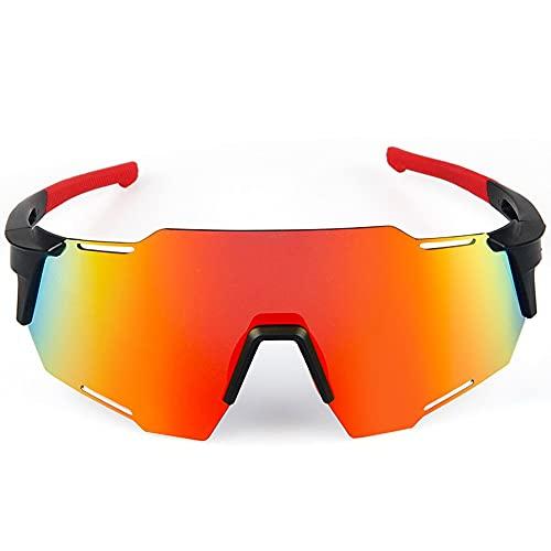 Gafas De Ciclismo para Hombre Y Mujer Gafas De Miopía, Luz Polarizada Anti-Viento Arena, Rayos Anti-Ultravioleta, Ciclismo, Running, Gafas De Sol para Voleibol De Playa (Color : Red)