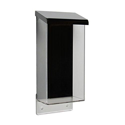 DIN Lang Prospektbox/Prospekthalter/Flyerhalter im Hochformat, wetterfest, für Außen, mit Deckel, aus Acrylglas/PMMA