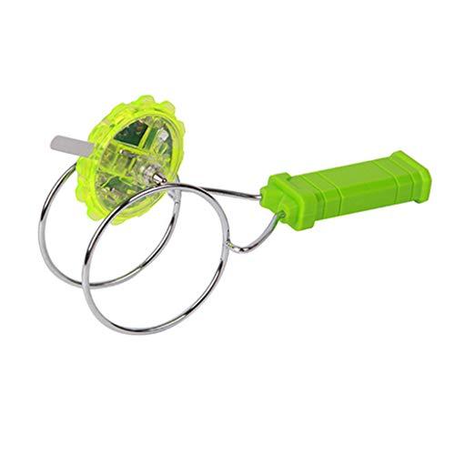 Gyro Wheel, ANJICAT Kids LED Light Magnetic Gyro Wheel Hand Spinner Magic Spinning Toy Regalo para niños