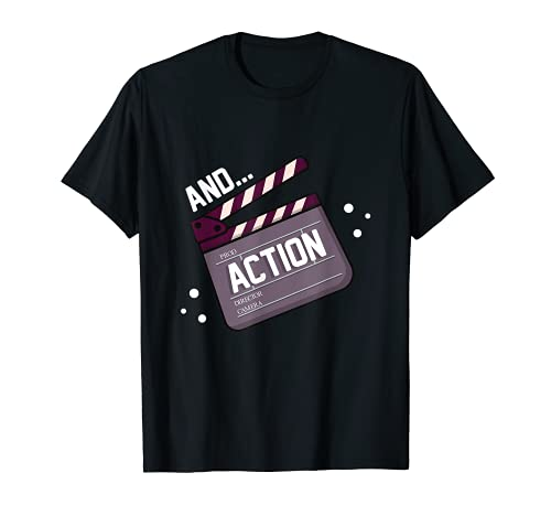 Schauspieler Schauspielerin Action-Film-Acting Clapperboard T-Shirt