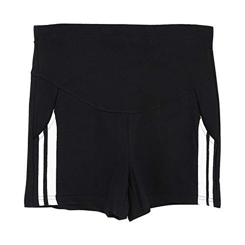 Hztyier Mama Quick Dry Shorts voor dames, voor zwangerschap, met volledig paneel, elastiek, taille
